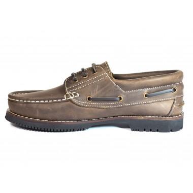 Zapatos Línea Apache Cordón Marrón
