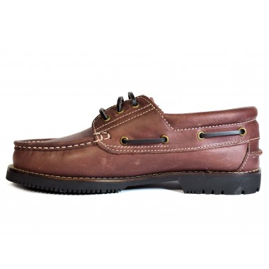 Zapatos Línea Apache Cordón Burdeos