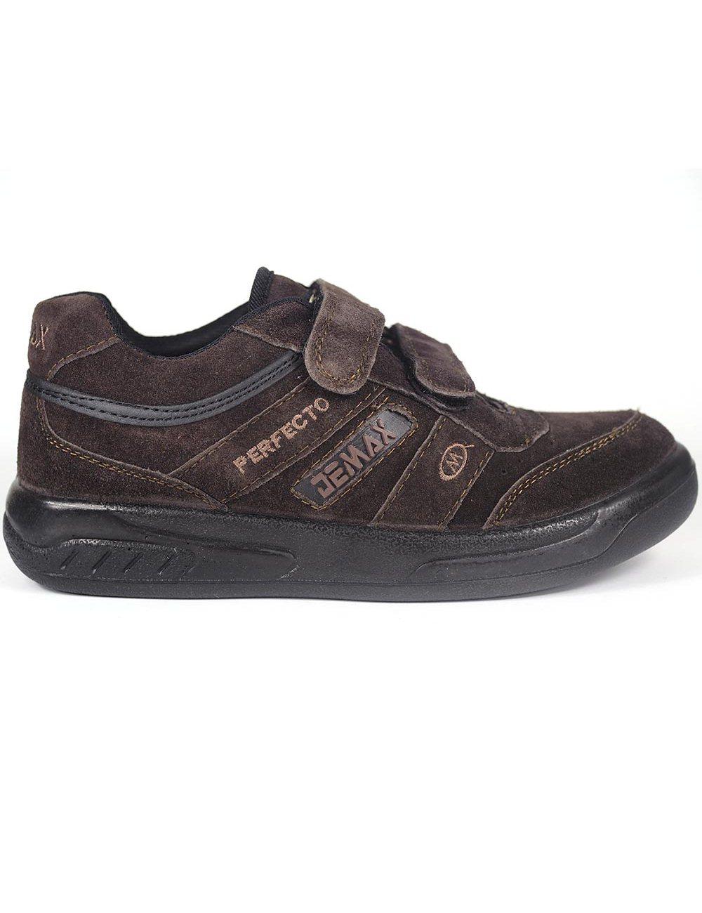 Zapatillas Demax Marrón Velcro