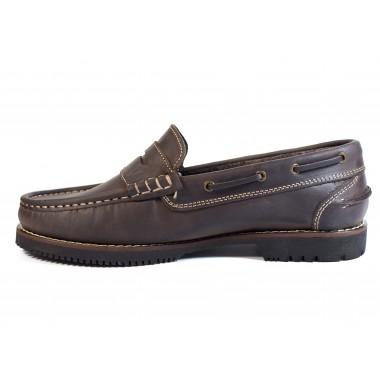 Zapatos Línea Apache Antifaz Marrón
