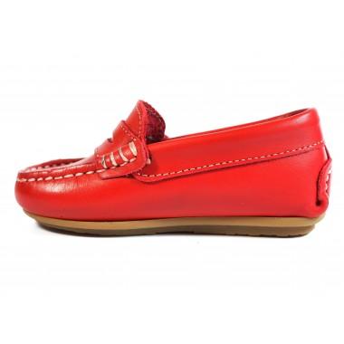 Zapatos Niños La Valenciana 1017 Rojo