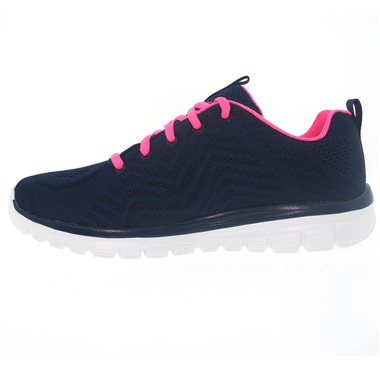 Zapatillas Skechers 12615 Negro-Rosa