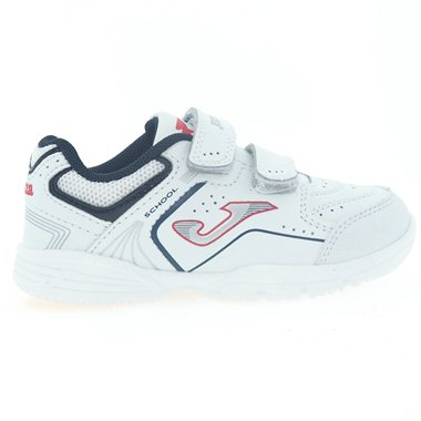 Zapatillas Joma School Jr 2022 Blanco-Rojo