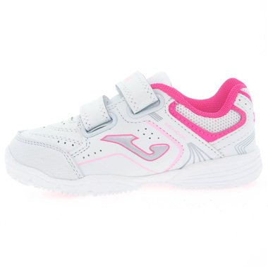 Zapatillas Joma School Jr 2010 Blanco-Rosa