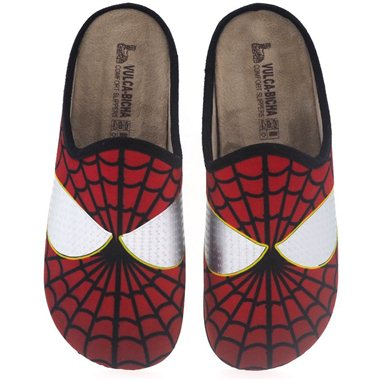 Zapatillas De Casa Vulca Bicha 1822 Spiderman Rojo