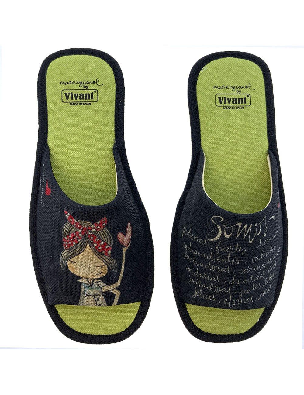 Zapatillas De Casa Vivant 202590 Negro