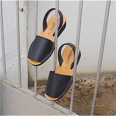 Sandalias Menorquinas Cuña Negro