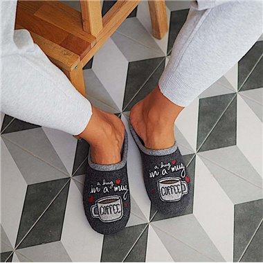 Zapatillas De Casa Roal 9034 Negro