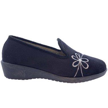Zapatillas de Casa Bordadas 2204129 Negro