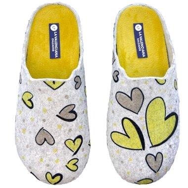 Zapatillas de Casa La Valenciana Corazón Amarillo