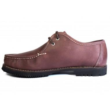 Zapatos Línea Apache Wallabee Cordón Burdeos