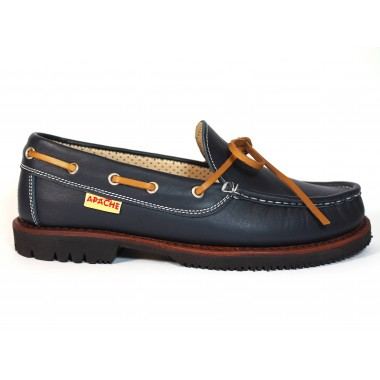 Zapatos Apache 412V Marino/Cuero