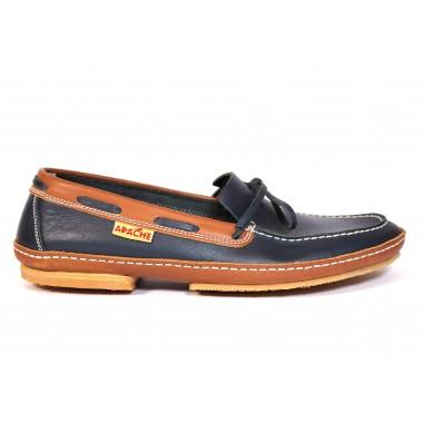 Zapatos Apache 414B Marino-Cuero Viejo