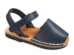 sandalias menorquinas azul marino para niños