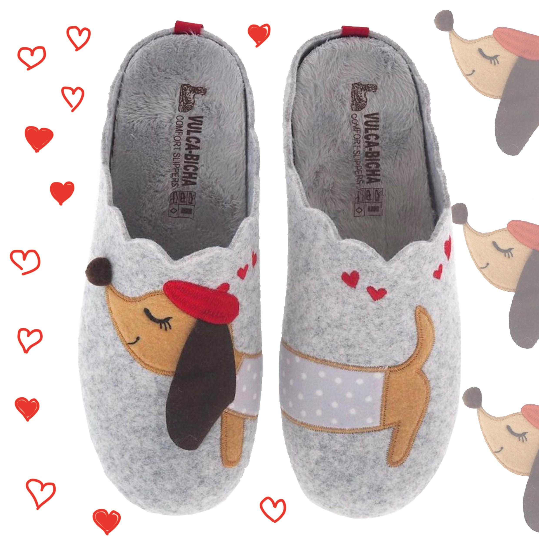 zapatillas de casa vulca bicha perro